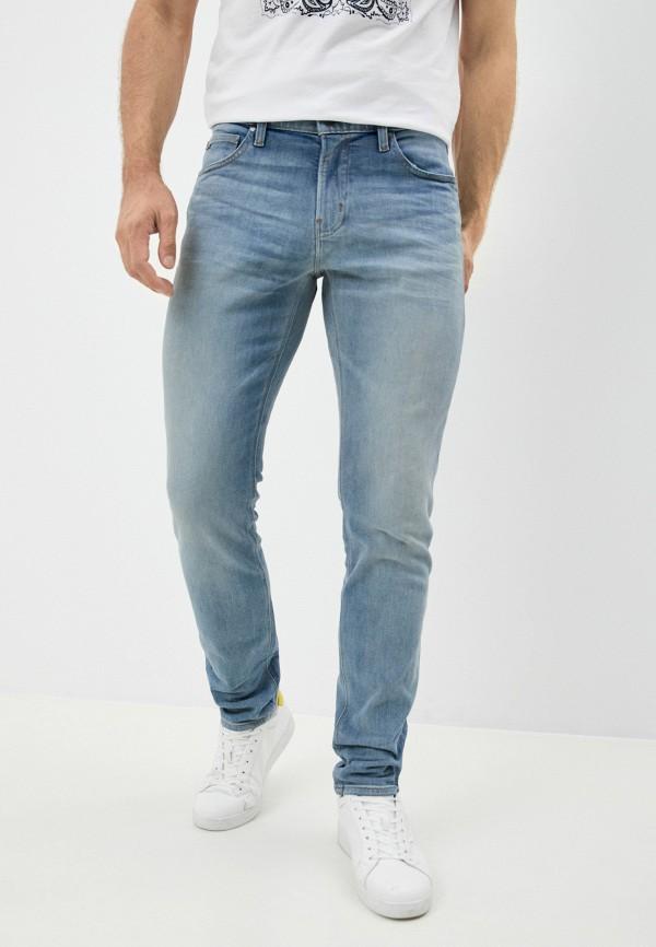 мужские зауженные джинсы michael kors, голубые