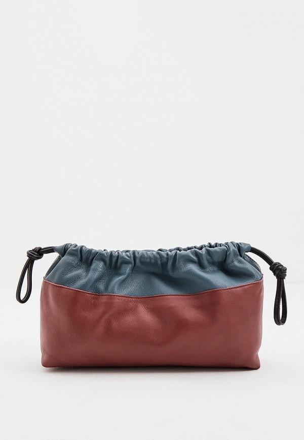 женская сумка через плечо pierre hardy, бордовая
