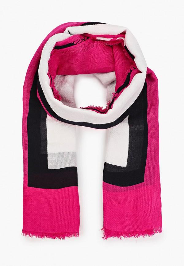женский платок tommy hilfiger, розовый