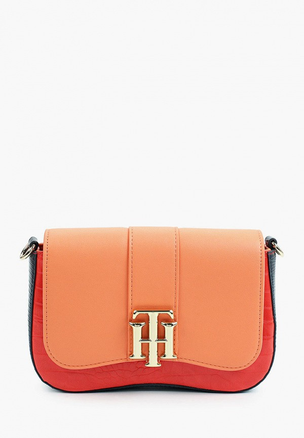 женская сумка через плечо tommy hilfiger, разноцветная