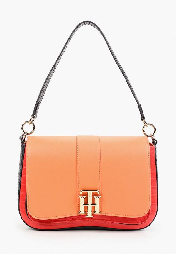 женская сумка с ручками tommy hilfiger, разноцветная