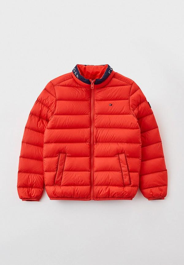 Куртка утепленная Tommy Hilfiger красного цвета