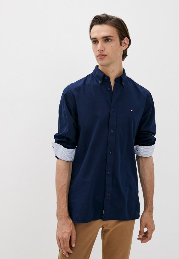 Рубашка Tommy Hilfiger синего цвета