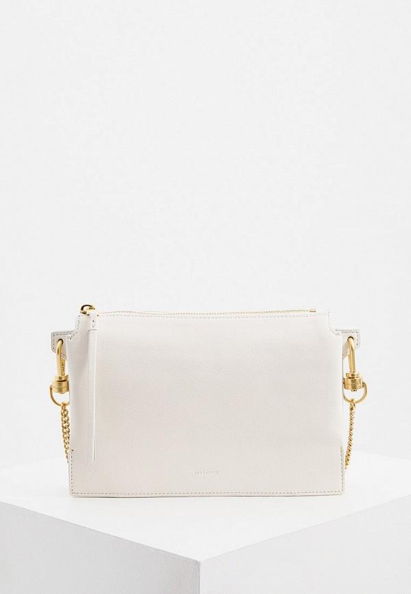 женская сумка через плечо allsaints, белая