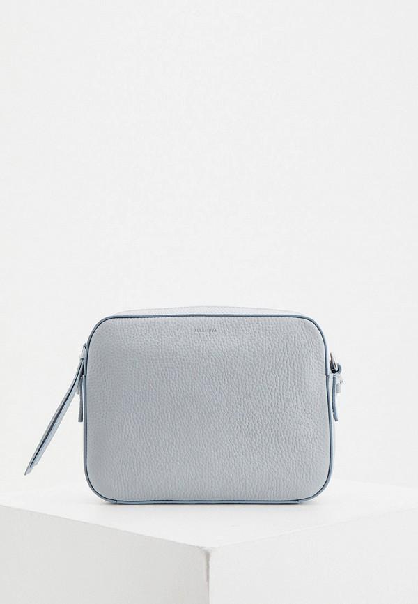 женская сумка через плечо allsaints, голубая