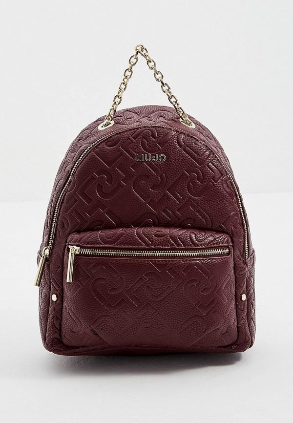 женский рюкзак liu jo, бордовый