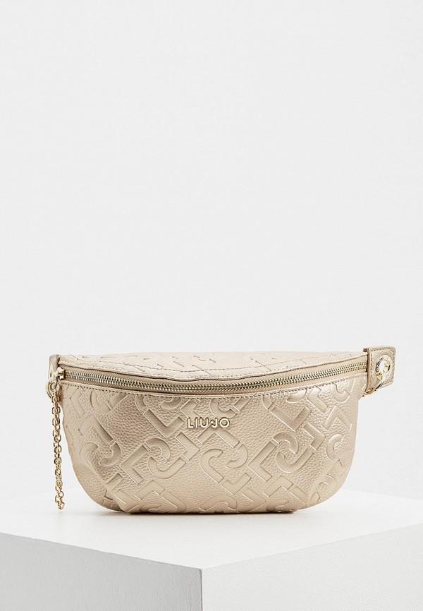 женская поясные сумка liu jo, розовая