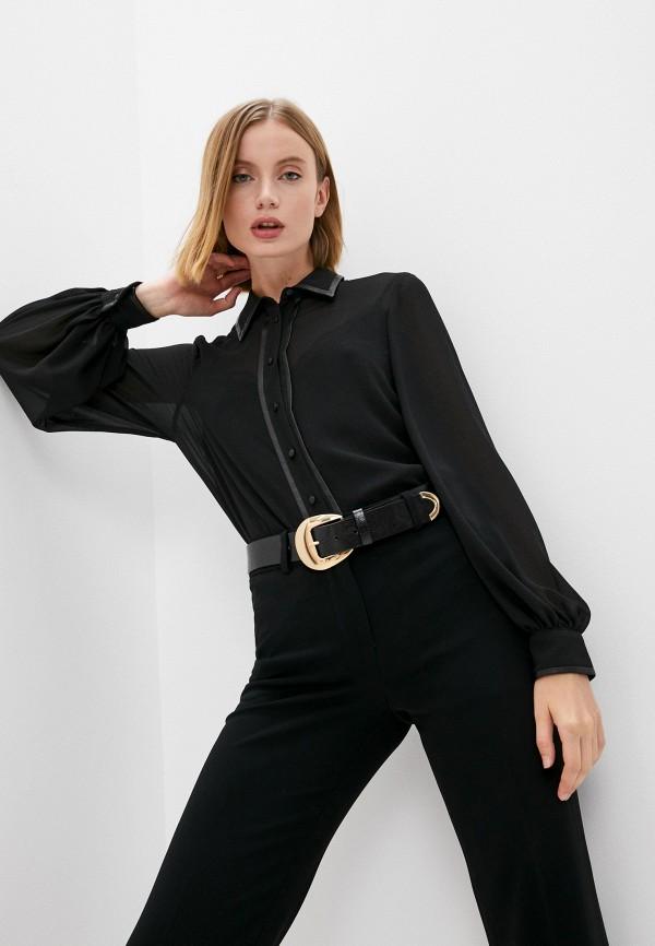 женская блузка с длинным рукавом liu jo, черная
