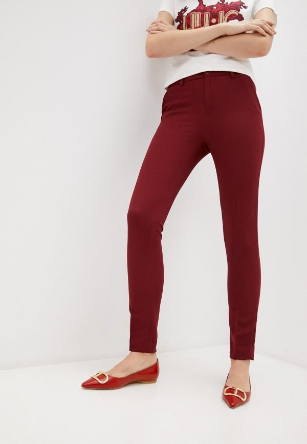 женские повседневные брюки liu jo, бордовые