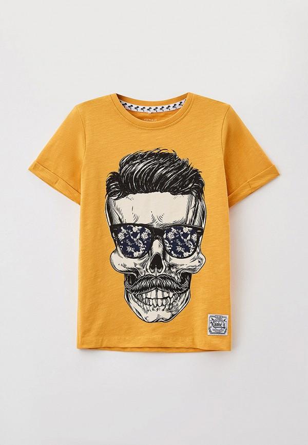 футболка с коротким рукавом name it для мальчика, желтая