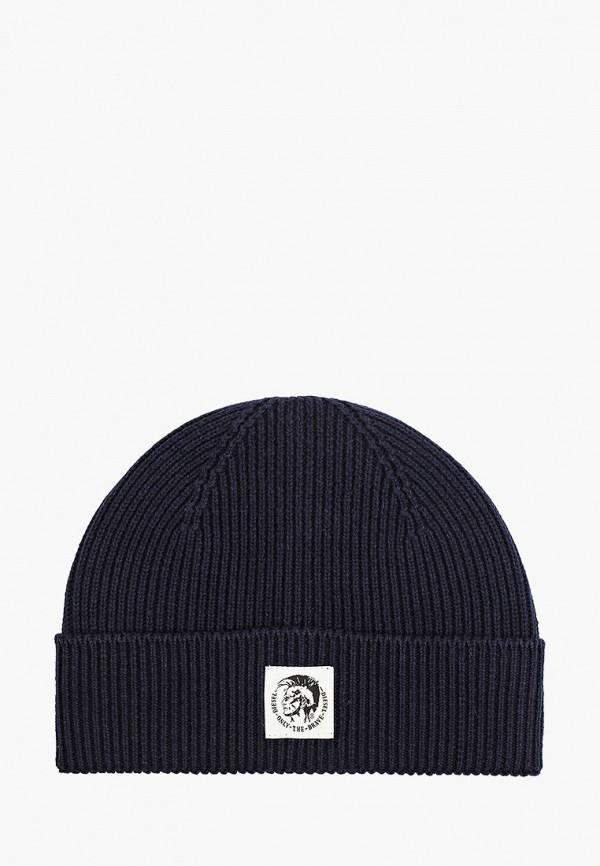 женская шапка diesel, синяя
