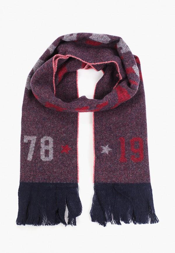 мужской шарф diesel, бордовый