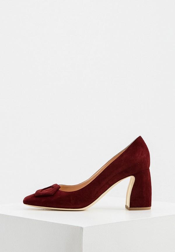 женские туфли с закрытым носом rupert sanderson, бордовые