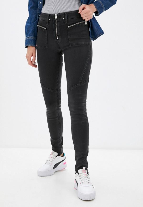 женские джинсы скинни diesel, черные