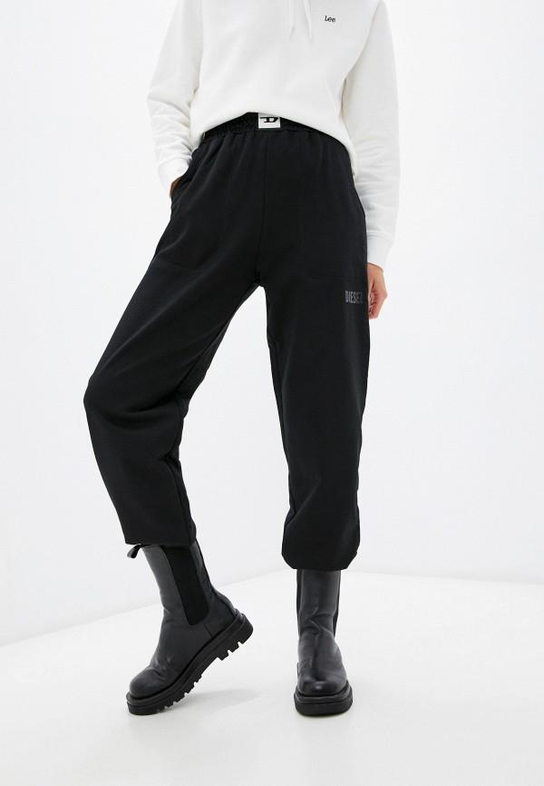 женские спортивные брюки diesel, черные