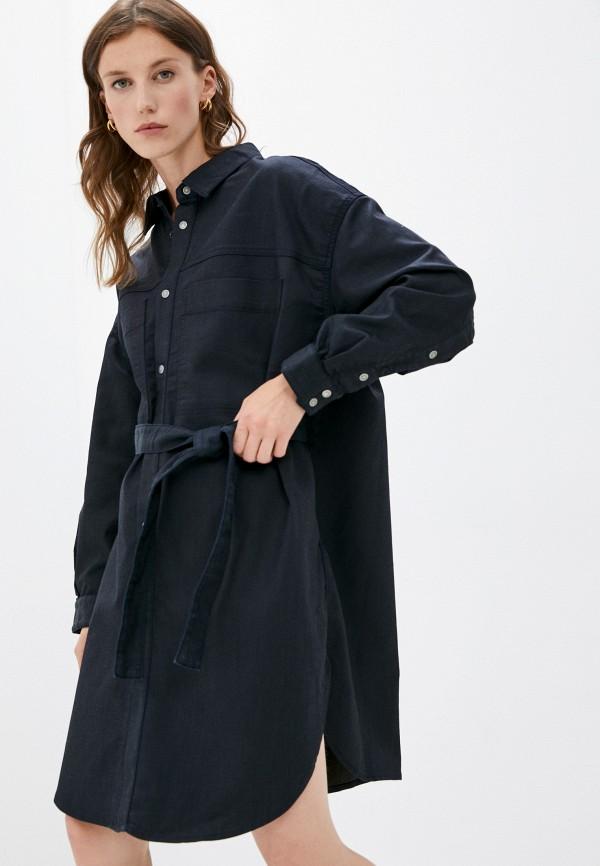 женское джинсовые платье diesel, черное