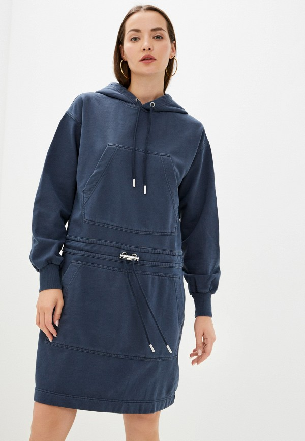 женское платье-толстовки diesel, синее