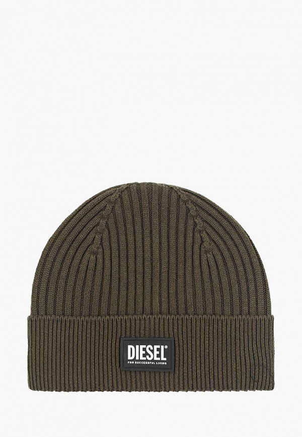женская шапка diesel, хаки
