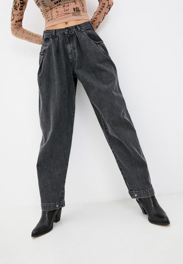 женские джинсы бойфренд diesel, серые