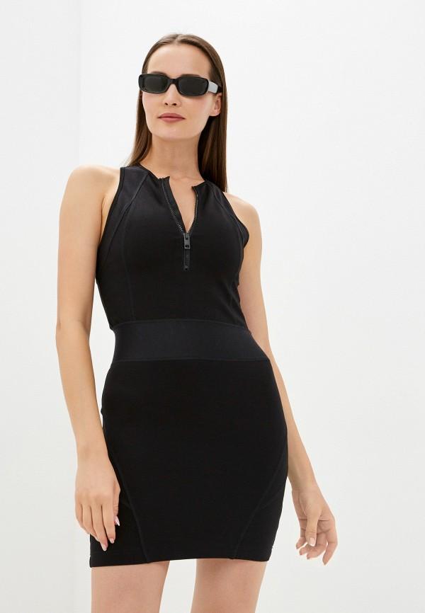женское платье-футляр diesel, черное