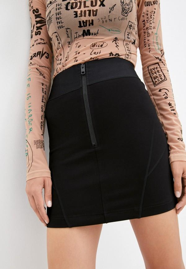 женская узкие юбка diesel, черная
