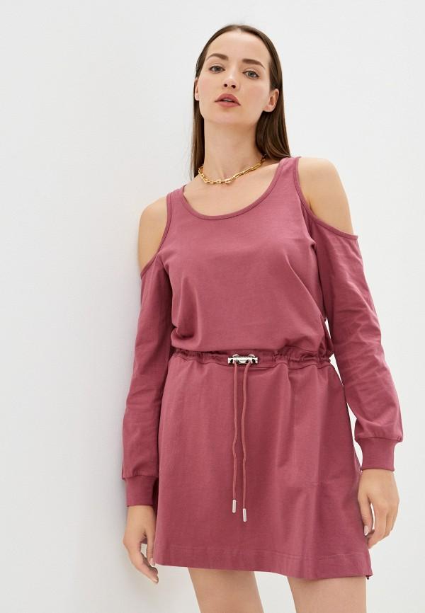 женское повседневные платье diesel, розовое