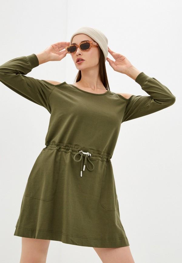 женское повседневные платье diesel, хаки