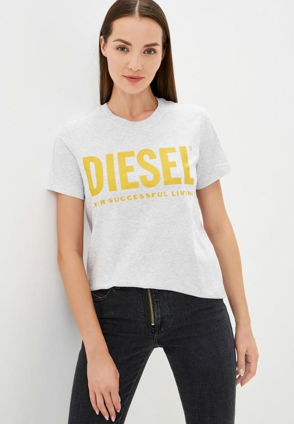 женская футболка diesel, серая