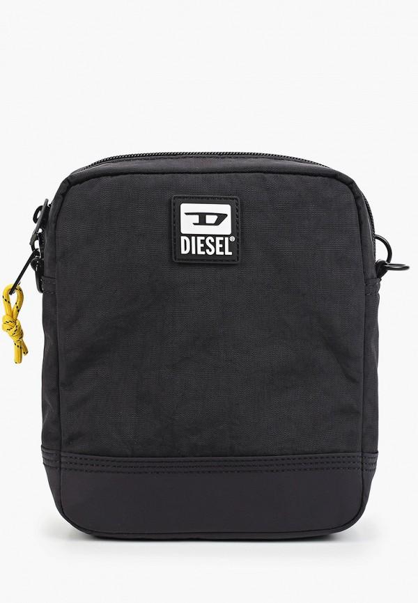 мужская сумка через плечо diesel, черная
