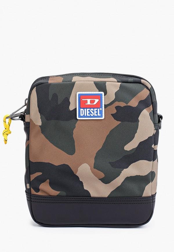 мужская сумка через плечо diesel, хаки