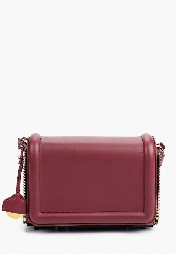 женская сумка через плечо diesel, бордовая