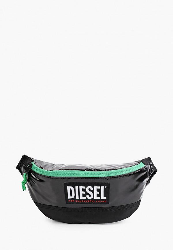 мужская поясные сумка diesel, черная