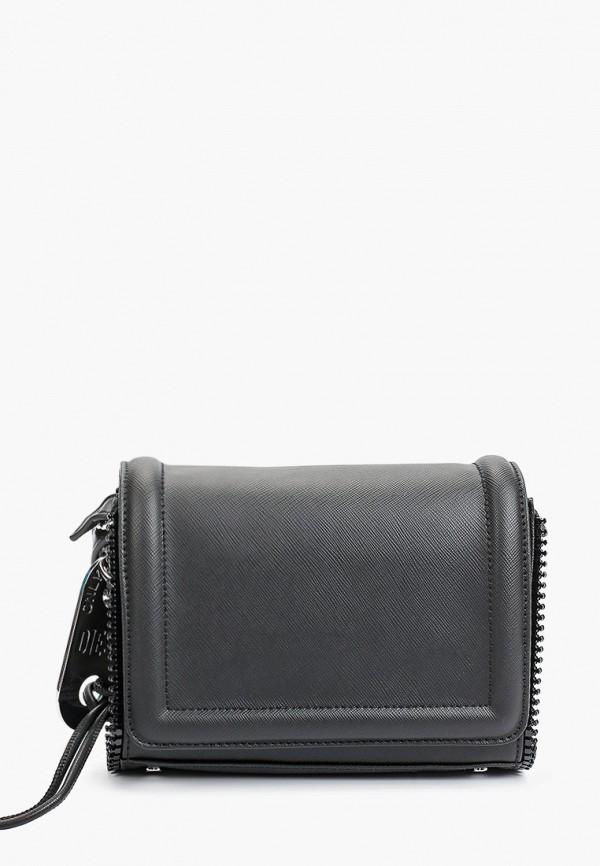 женская сумка через плечо diesel, черная
