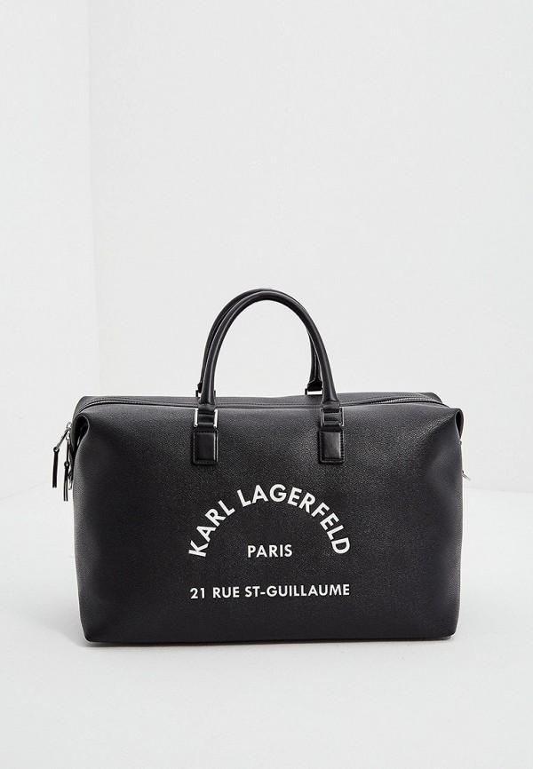 женская дорожные сумка karl lagerfeld, черная