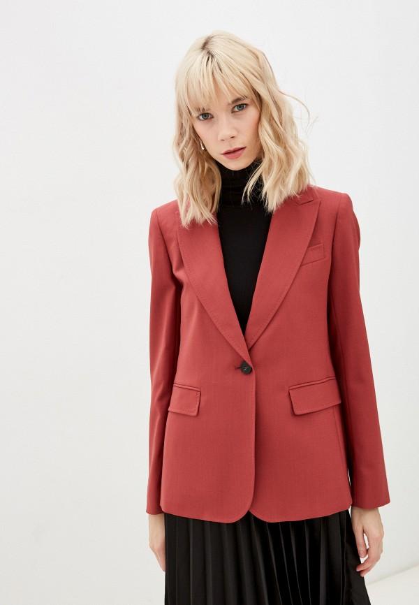 женский пиджак weekend by max mara, бордовый