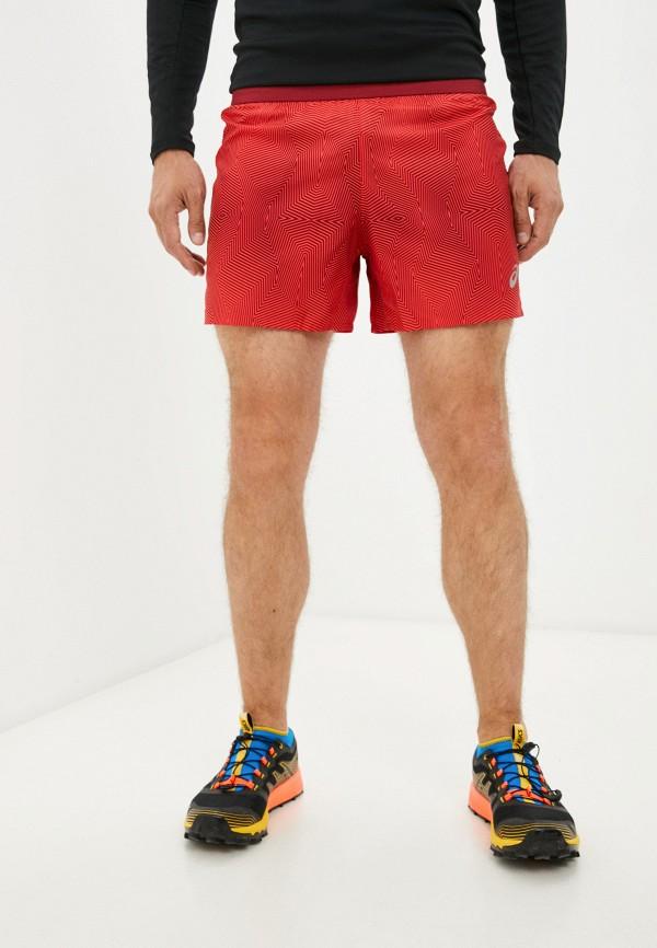 мужские спортивные шорты asics, красные