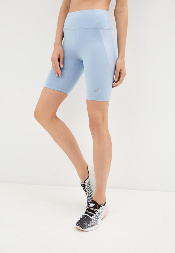 женские спортивные шорты asics, голубые