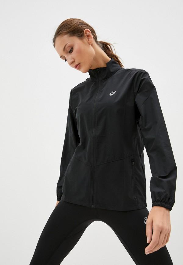 женская спортивные куртка asics, черная