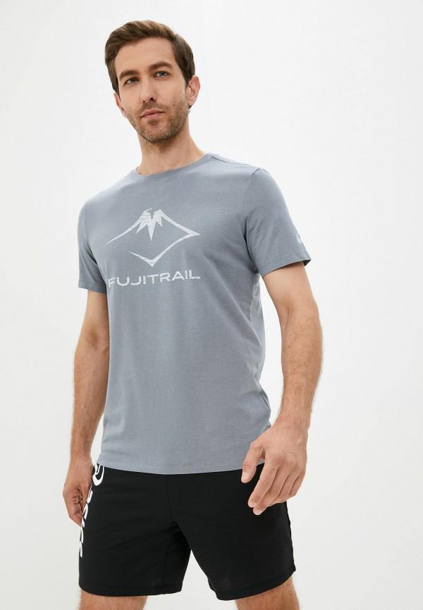 мужская футболка с коротким рукавом asics, серая