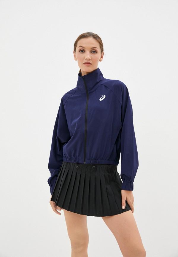 женская спортивные куртка asics, синяя
