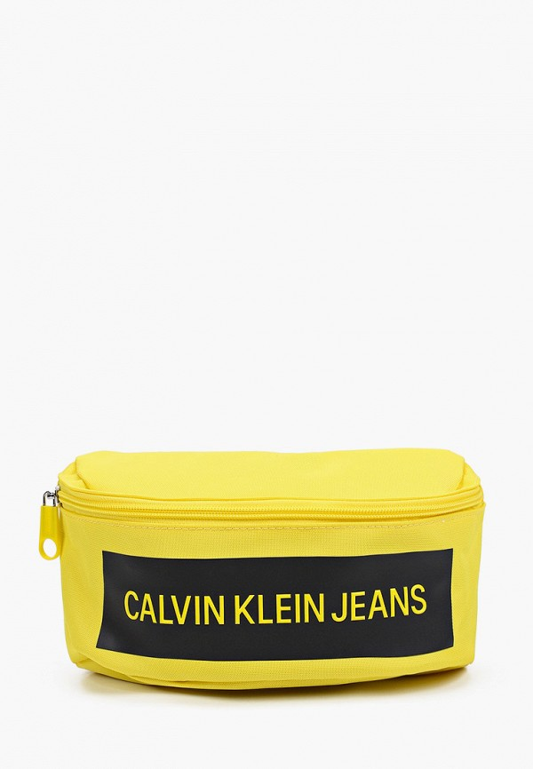 женская поясные сумка calvin klein, желтая