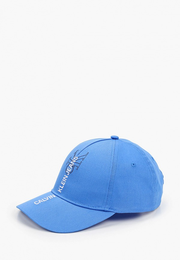 женская бейсболка calvin klein, голубая