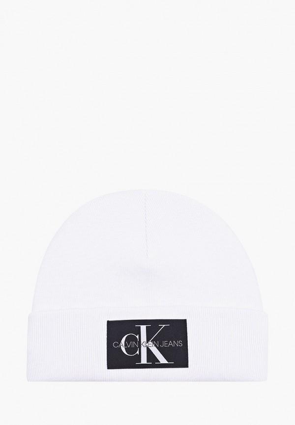 мужская шапка calvin klein, белая