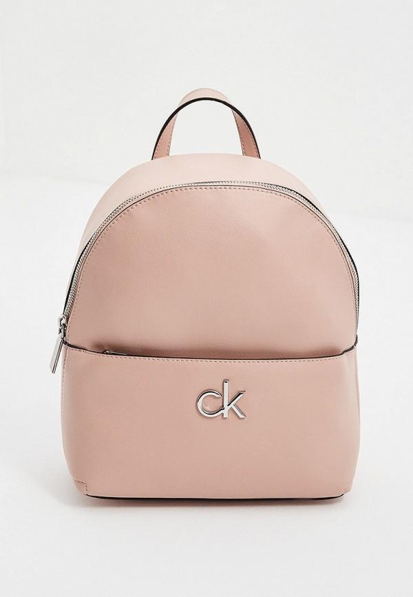 женский рюкзак calvin klein, розовый