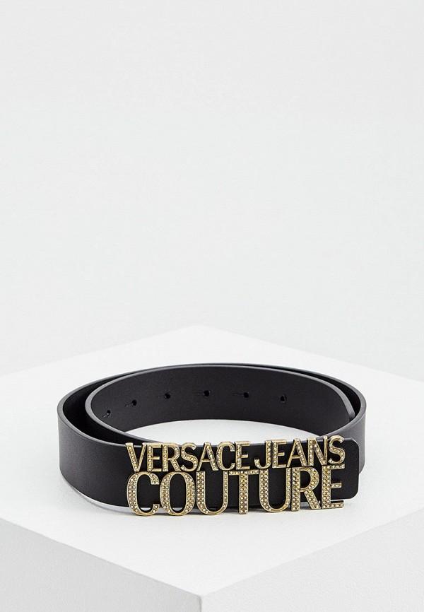 женский ремень versace, черный