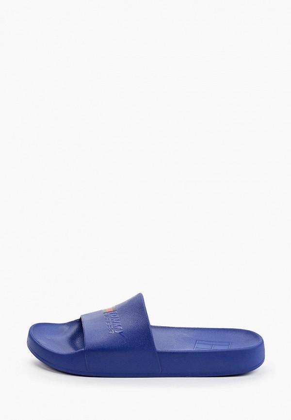 Сабо Tommy Hilfiger синего цвета