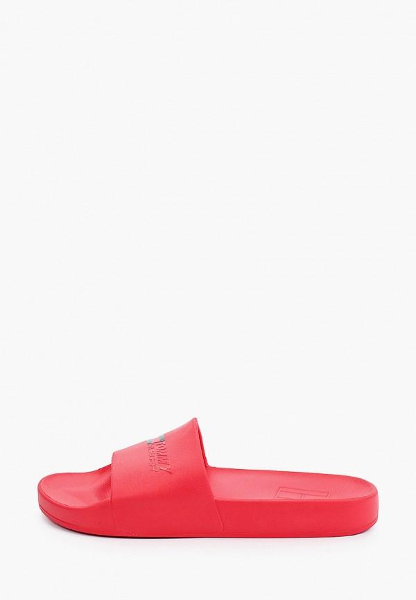 Сланцы Tommy Hilfiger красного цвета