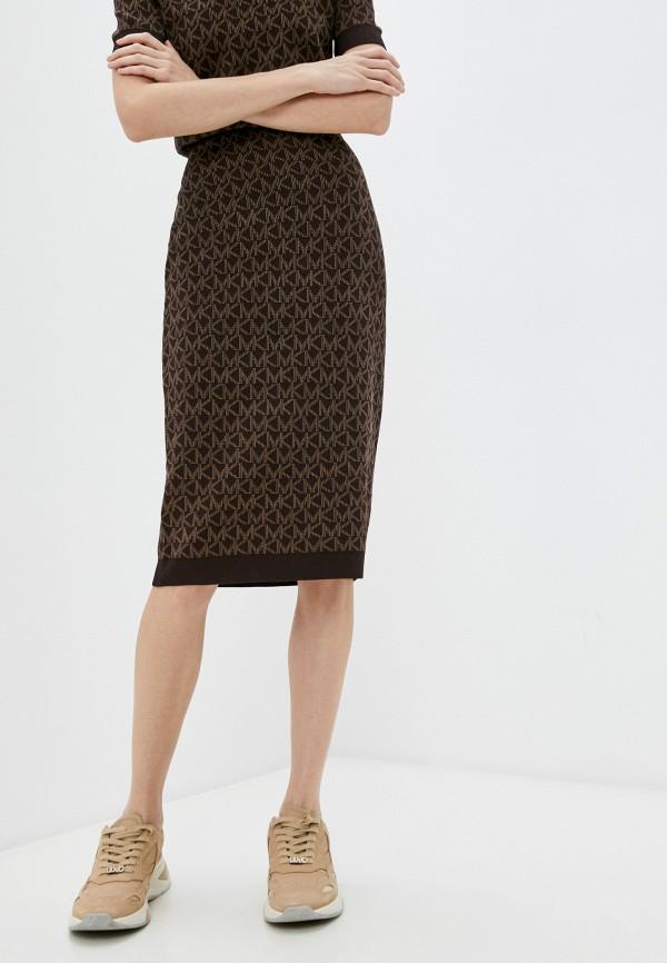 женская узкие юбка michael kors, коричневая