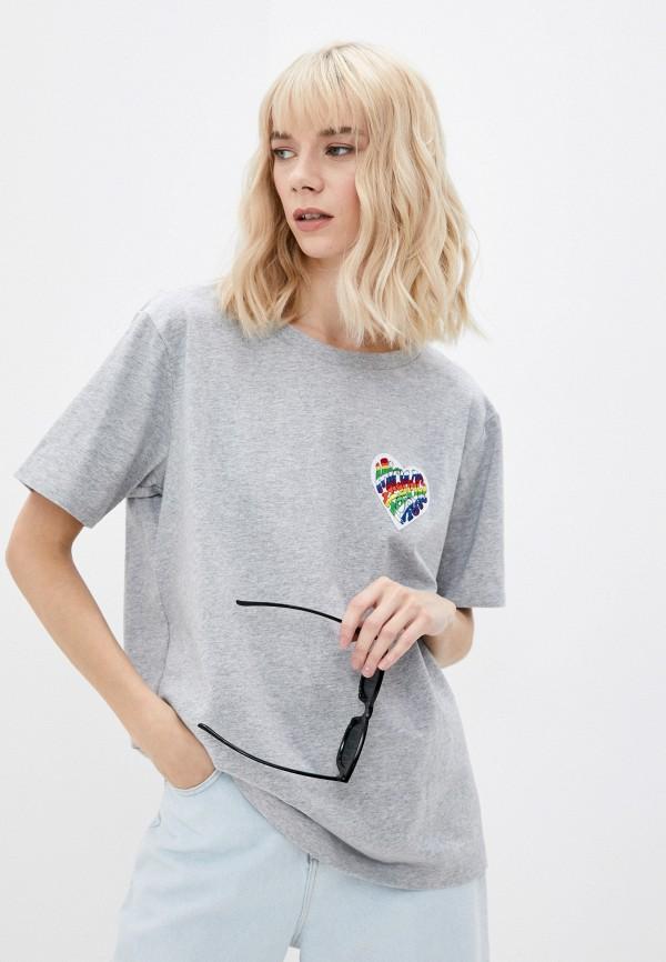 женская футболка michael kors, серая
