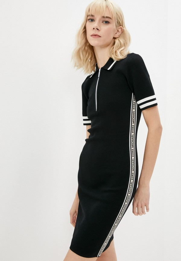женское платье-футболки michael kors, черное